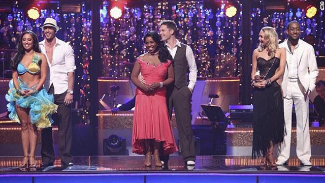 """A still from this season's """"Dancing With the Stars."""""""