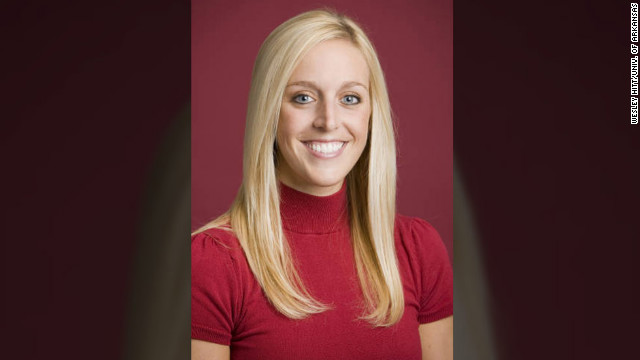 Jessica Dorrell, a 25-year-old  member of his staff, was on Petrino's motorcycle with him when it crashed .