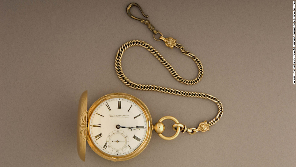 Abraham Lincoln's English gold watch and chain were purchased in the 1850s from a Springfield, Illinois, jeweler named George Chatterton.