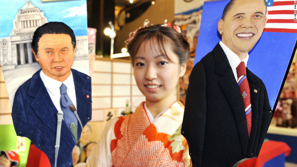 One aspect of U.S. politics Japan craves is stability -- the country has had four prime ministers (including Taro Oso, left) since Obama took office in 2009.