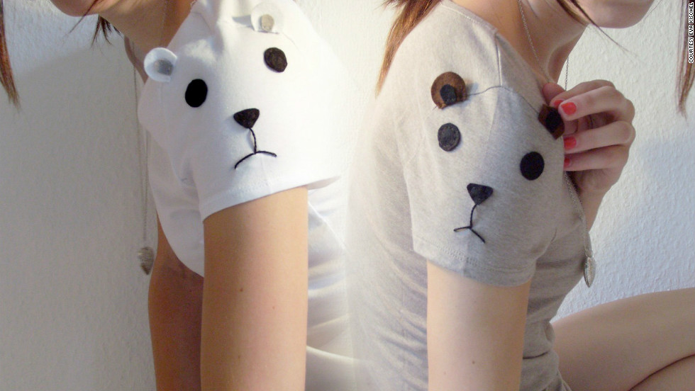 This is another one of Eva Kischel's minimalist animal-inspired designs. Kischel adorns a simple cotton T-shirt with the outline of a panda face. She sells many of her creations at her Esty store The Petite Chouette.