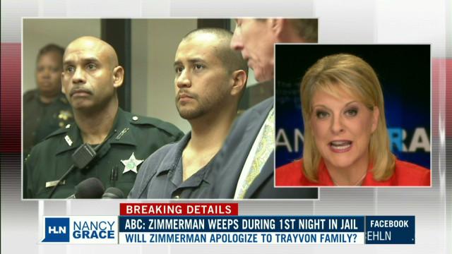 Was George Zimmerman weeping in jail?