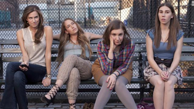 "From left to right: Allison Williams, Jemima Kirke, Lena Dunham and Zosia Mamet star in HBO's ""Girls."""