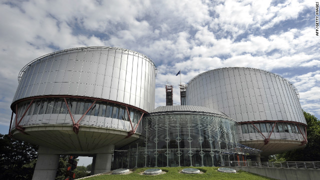The European Court of Human Rights in the French eastern city of Strasbourg.