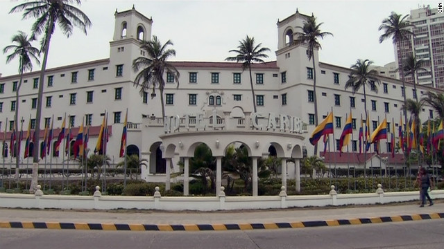 Sources say the alleged prostitutes signed in at Cartagena's Hotel El Caribe, where Secret Service members apparently stayed.