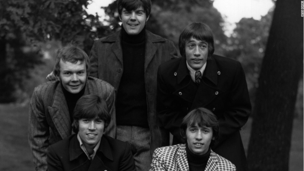 The Bee Gees sporting fashionable jackets in 1967.