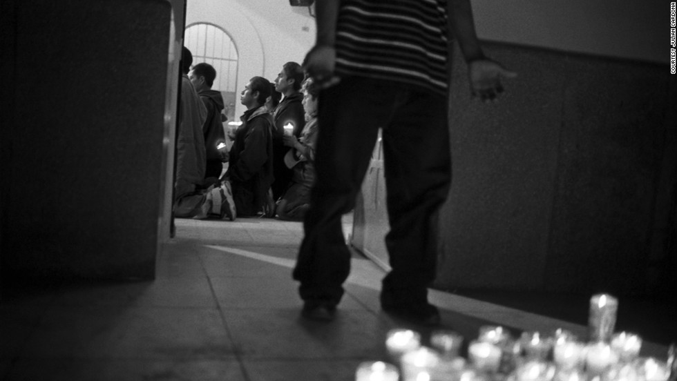 Altar, Sonora, is a gathering spot for those crossing the border. Before immigrants cross, they arrive to Nuestra Senora de Guadalupe, a Catholic church, to pray for a safe journey and avoid death in the desert. The flow in and out of Altar is constant.