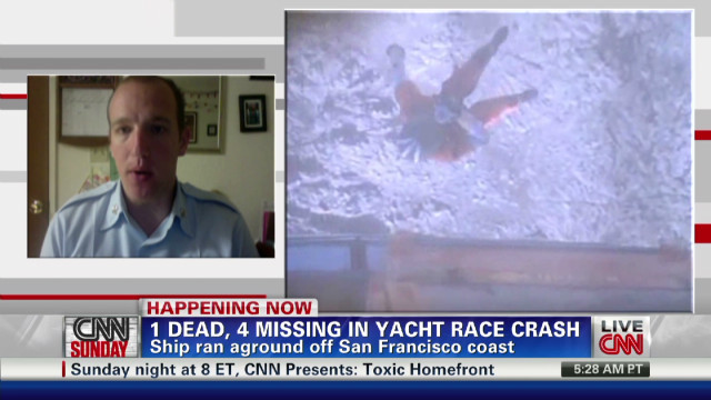 Rescue after yacht race crash
