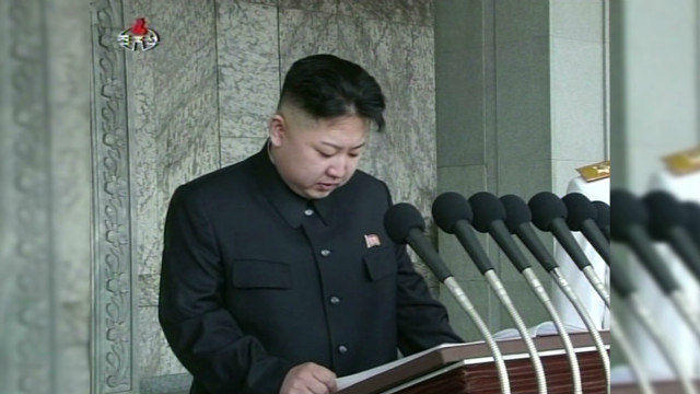 North Korea's Kim Jong Un speaks