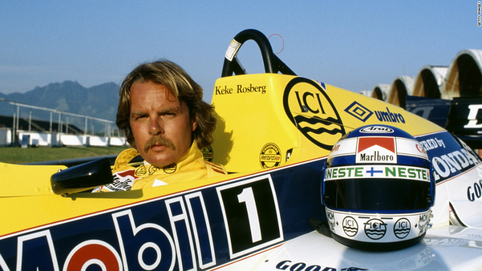 Keke Rosberg won five races in total in a career that lasted nine seasons. He is pictured here during the 1985 Brazilian Grand Prix, where he retired from the race.