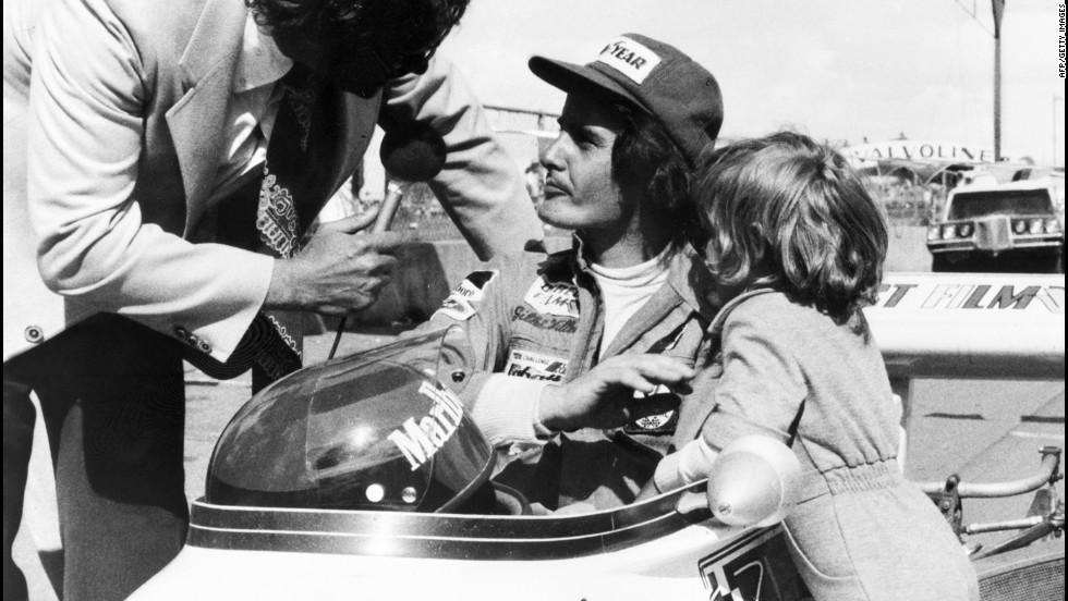 Gilles Villeneuve, seen here with a young Jacques in 1974, died in 1982 during qualifying at the Belgian Grand Prix. He was championship runner-up in 1979, having won his first race the year before at the Montreal circuit now named after him.