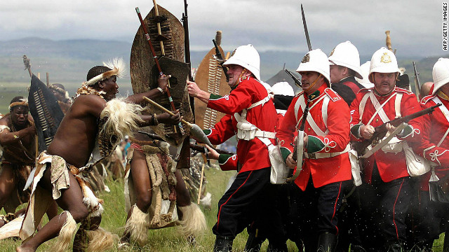 A 125th anniversary re-enactment of the battle of Isandlwana.