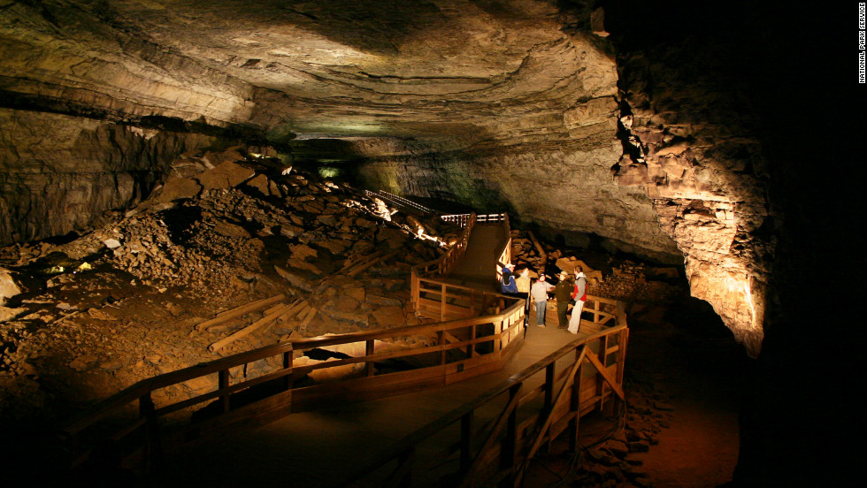 "Mammoth Cave is the world's longest known cave system. With complex labyrinths and more than 390 miles excavated, it's safe to say that ""Mammoth"" makes for a fitting name."