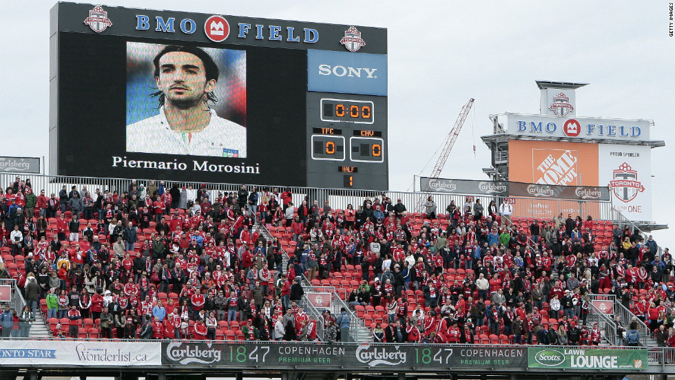 Canadian football fans held a period of silence for Morosini before Toronto FC hosted Chivas USA at BMO Field on Saturday.