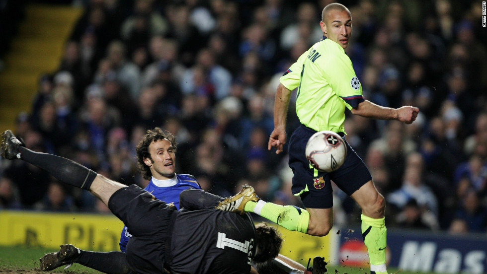 Barcelona won at Stamford Bridge in the first leg of a last-16 tie in the 2005-06 season and went on to win the title. Wednesday's semifinal first leg in London will be the fifth meeting between the two sides in the European competition's knockout stages.