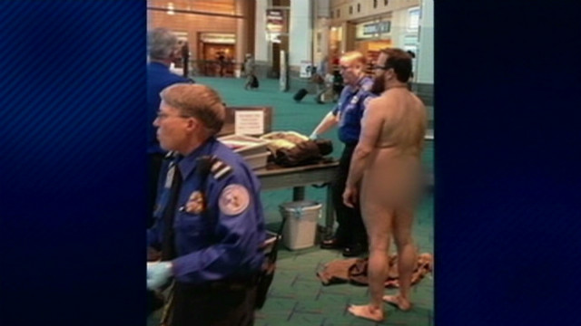Man strips to protest TSA pat-down