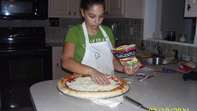 Samantha Pecoraro, 14, finds her outlet through cooking foods she cannot eat.