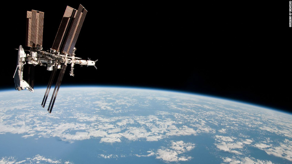 The International Space Station weighs 360 tons and has more than 820 cubic meters of pressurised space according to the European Space Agency.