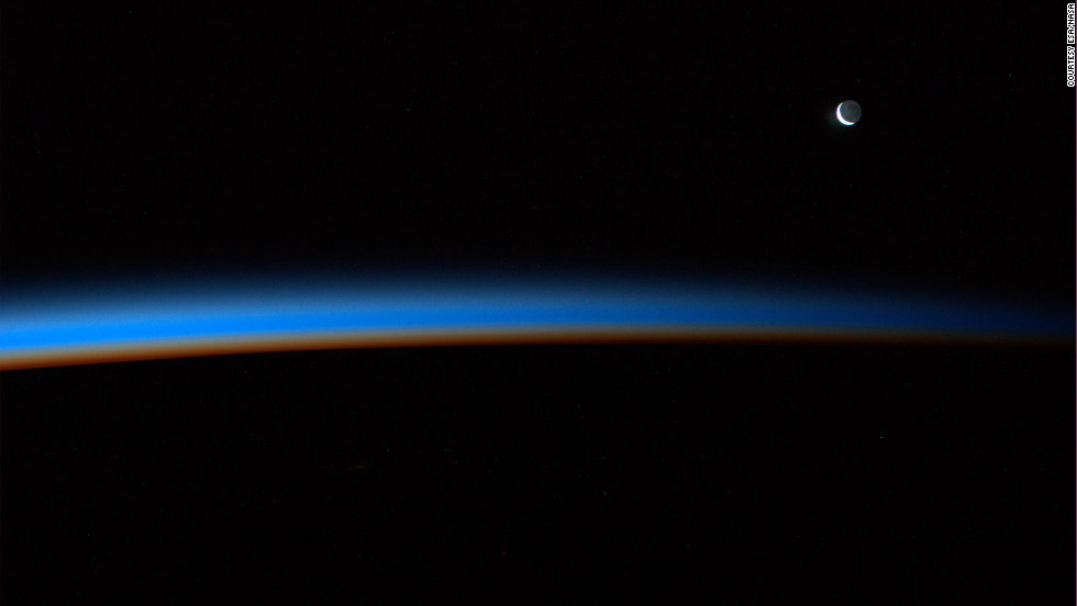 """You see the atmosphere which covers the earth like a blanket. It looked like if I would blow on it too hard it would float away. We know if that get's corrupted in a certain way that's the end,"" Nespoli said."