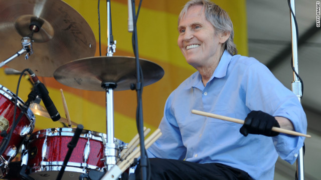 Levon Helm performs at the 2010 New Orleans Jazz and Heritage Festival.