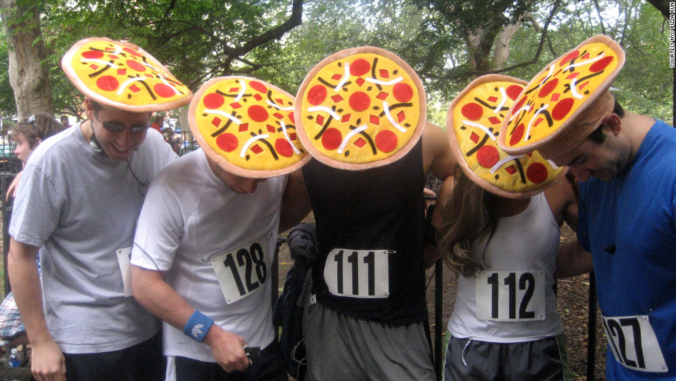 "Following in Krispy Kreme's heavy footsteps, the <a href=""http://nycpizzarun.com/ "" target=""_blank"">New York City Pizza Run</a> held its first event in 2010. Runners complete a 2.25-mile run, inhaling three slices of pizza along the way. A portion of the race's proceeds benefit the <a href=""http://www.jdrf.org/"" target=""_blank"">Juvenile Diabetes Research Foundation</a>."