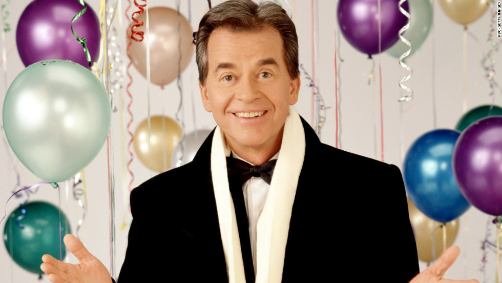 Clark hosts his annual ABC New Year special from New York's Times Square in 1994.