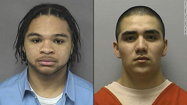 Eric James, left, and Santos Carrera-Morales escaped early Wednesday. They are considered armed and dangerous.