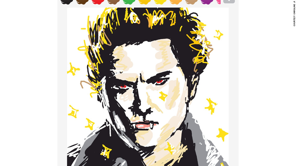 Caroline Ji drew this actor, best-known for playing a vampire (in case that wasn't obvious).