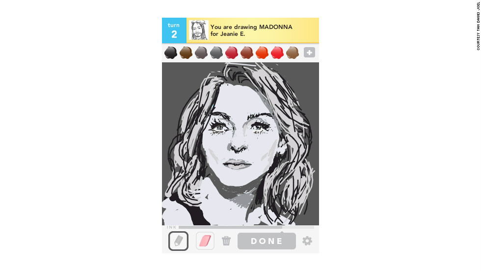 This pop star is mostly known for her music but has made several forays into acting. Her detailed black-and-white portrait was drawn by Tan Dawei Joel of Singapore.
