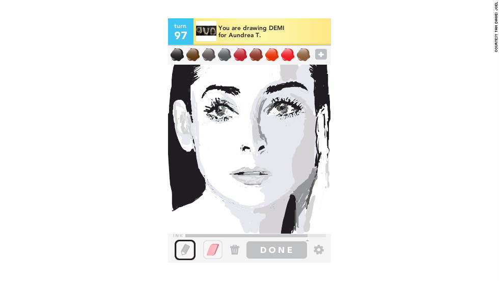 This actress is sketched here by Tan Dawei Joel.