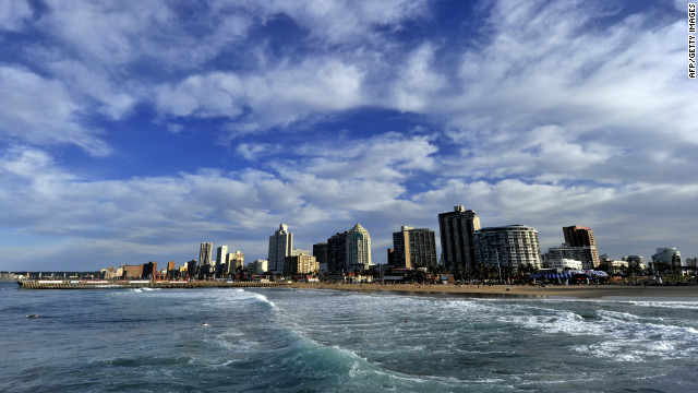 Durban seen from the ocean.