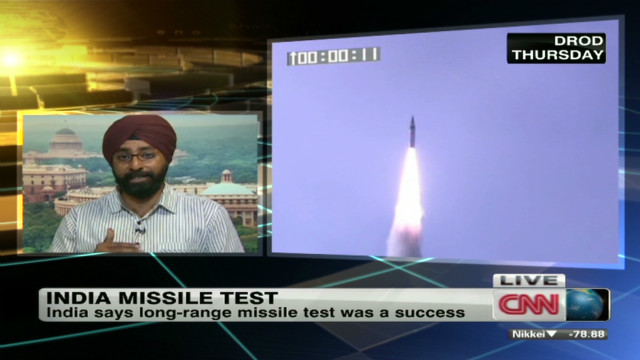 India: Missile test 'immaculate' success