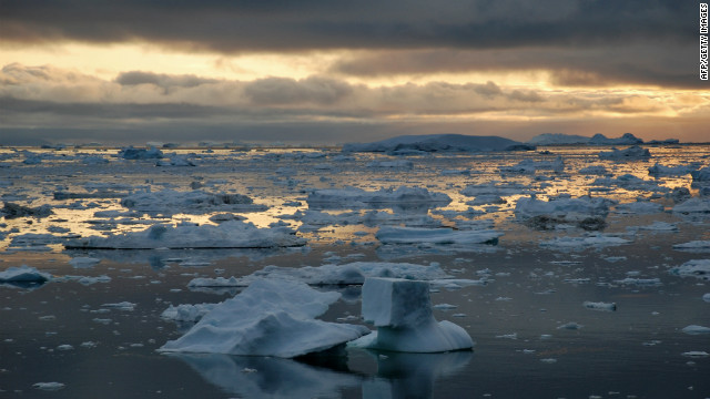 There is significantly less ice in the waters of the Ilulissat Icefjord in western Greenland.