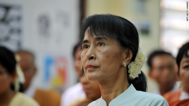 Aung San Suu Kyi's party has asked that the the wording of an oath that lawmakers have to take be altered.