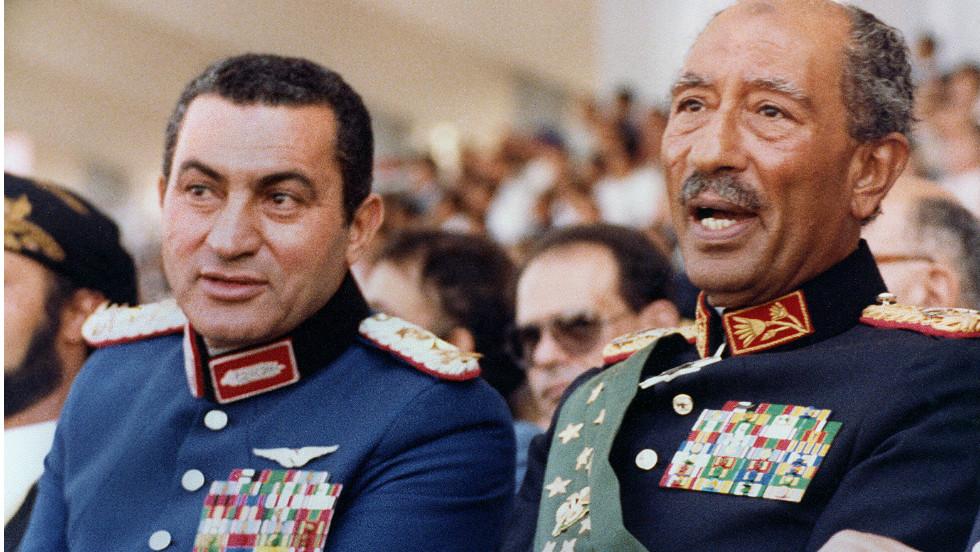 Egypt President Mubarak Then-vice President Mubarak