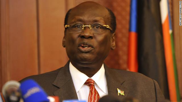 South Sudanese Information Minister Barnaba Marial Benjamin said rival Sudan began a series of attacks Sunday morning.