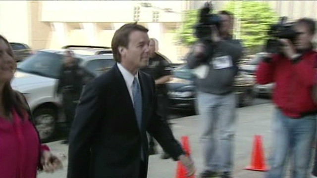 John Edwards arrives for trial