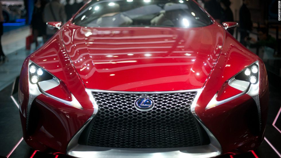 A Lexus 'LF-LC' concept car is displayed at the Auto China 2012 car show in Beijing.