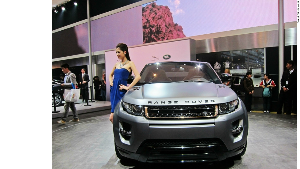 A Range Rover collaboration with celebrity Victoria Beckham featuring a unique grill