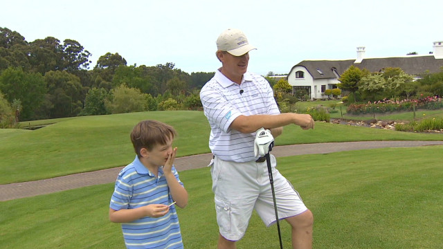 Ernie Els gets the word out on autism