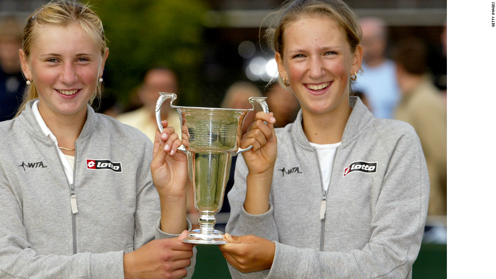 Azarenka was a Wimbledon champion at the age of 14, winning the girls'  doubles title in 2004 with compatriot Volha Havartsova.