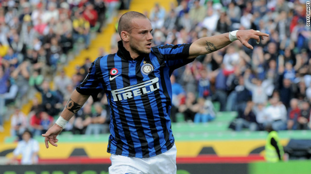 Dutchman Wesley Sneijder scored twice as Inter won again on Wednesday.