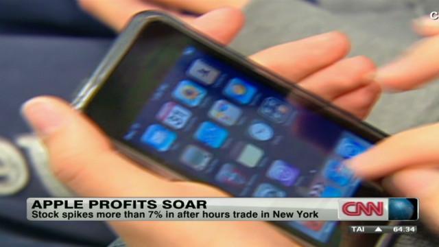 Apple's phenomenal profits soaring