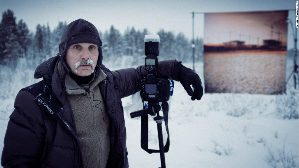 Lebanese photographer Roger Moukarzel swapped his warm studio in Beirut for the frozen mountains of Lulea in northern Sweden. He was here to create a series of striking images that would highlight the cause and effect of climate change.