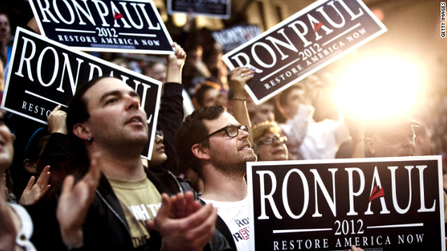 Supporters of Rep. Ron Paul's third White House bid have remained loyal dispite his dwindling chances for the nomination.