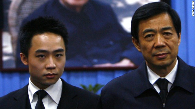 Bo Guagua (left) defended his father, Bo Xilai, in a statement he posted to his Tumblr.