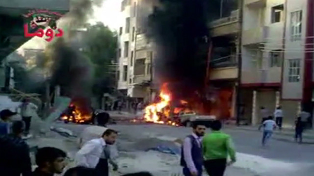 Video shows fiery violence in Syria