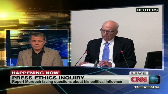 Rupert Murdoch on inquiry hot seat