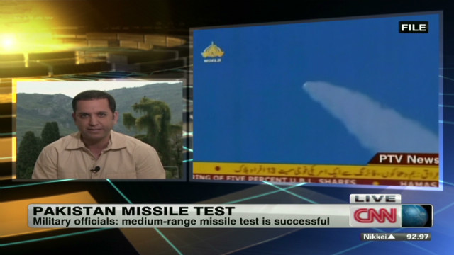 Pakistan tests medium-range missile