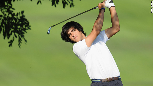 Javier Ballesteros competed in his first professional tournament Thursday, at the Sant Cugat course in Catalunya